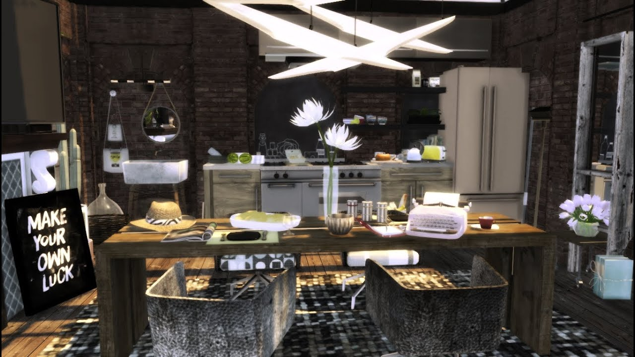 Ikea Kitchen Ideas And Inspiration The Sims 4 Industrial Kitchen Dining Room Design Ideas
