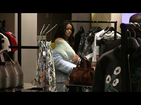 EXCLUSIVE - Rihanna shops at L Eclaireur Store in Paris