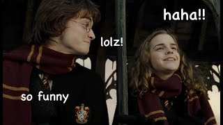 harry and hermione being a comedic duo