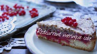 Redcurrant Meringue Cake | Video Recipe