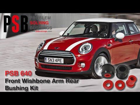 PSB 640 2x MINI COOPER 00-08 Front Lower Control Arm Wishbone Rear Bushing