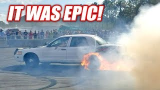 Project Neighbor Goes INSANE... Then Catches on Fire! (Cleetus and Cars FL Burnout Contest) thumbnail