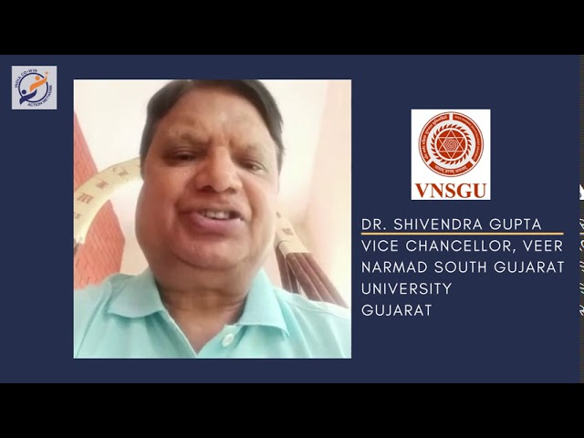 Y4AB: Messages from Esteemed Institutional Partners - Dr. Shivendra Gupta, Vice Chancellor, VNSGU