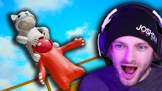 fighting our girlfriends (gang beasts)
