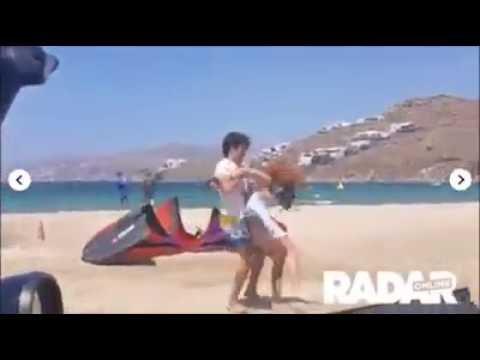Lindsay Lohan agredida por su pareja en la playa