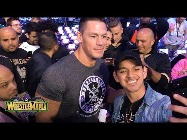 John Cena takes his seat at WrestleMania as a fan: WrestleMania Exclusive, April 8, 2018