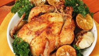 Курица с лимоном и чесноком (ROASTED CHICKEN WITH GARLIC AND LEMON)