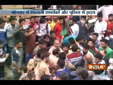 Syed Ali Geelani's Supporters Clash with J&K Police in Srinagar