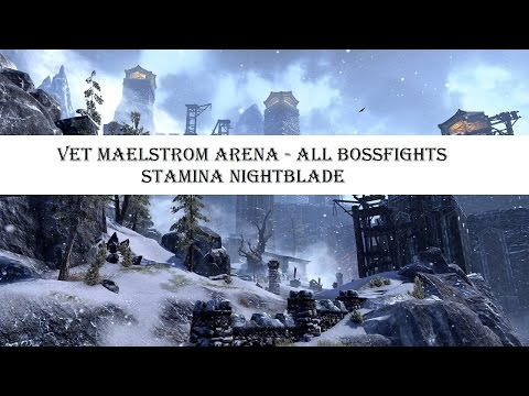 ESO - Vet Maelstrom Arena All Bossfights - Stamina NB