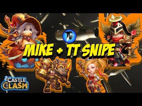 Castle Clash - GW Mike + TT Snipe | F2P Vs MAXD Rockno And GS Bases