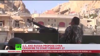 Ceasefire Agreement: Syrian proposal to begin at midnight on Feb. 27th