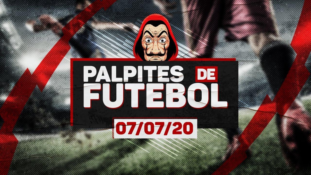⚽ PALPITES DE FUTEBOL PARA TERÇA-FEIRA DIA 07/07/2020