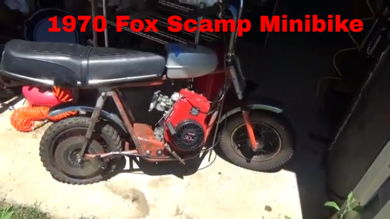 Barn Find, Vintage Fox Scamp Minibike, Newer Tecumseh engine, cold start