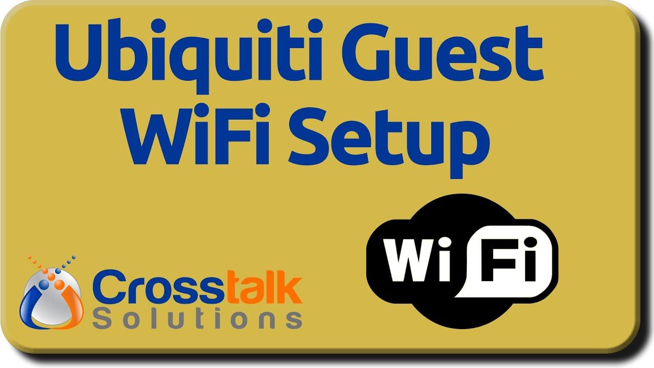 Ubiquiti Guest WiFi Setup