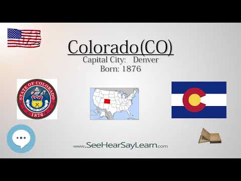 COLORADO - The 38th State of America | EYNTK  about The States & Territories ❤️🌎🔊✅