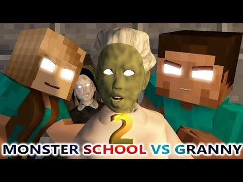 MONSTER SCHOOL VS GRANNY CHALLENGE 2! Ft. Slendrina (official) Minecraft Horror Game Animation Video
