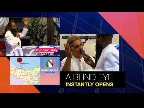 A BLIND EYE INSTANTLY OPENS IN ITALY