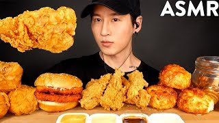 ASMR MOST POPULAR FOOD at CHURCH'S CHICKEN (Fried Chicken, Tenders, Sandwich, Honey Biscuit) MUKBANG