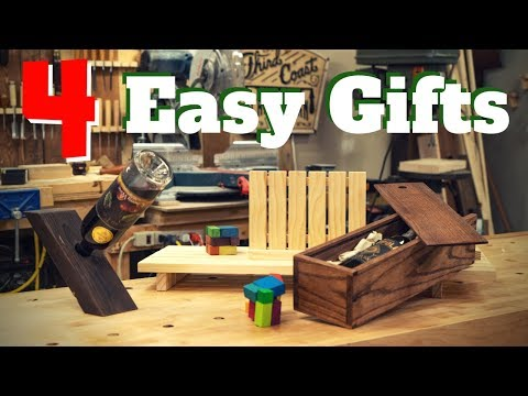 4 Easy DIY Woodworking Gift Projects!!!