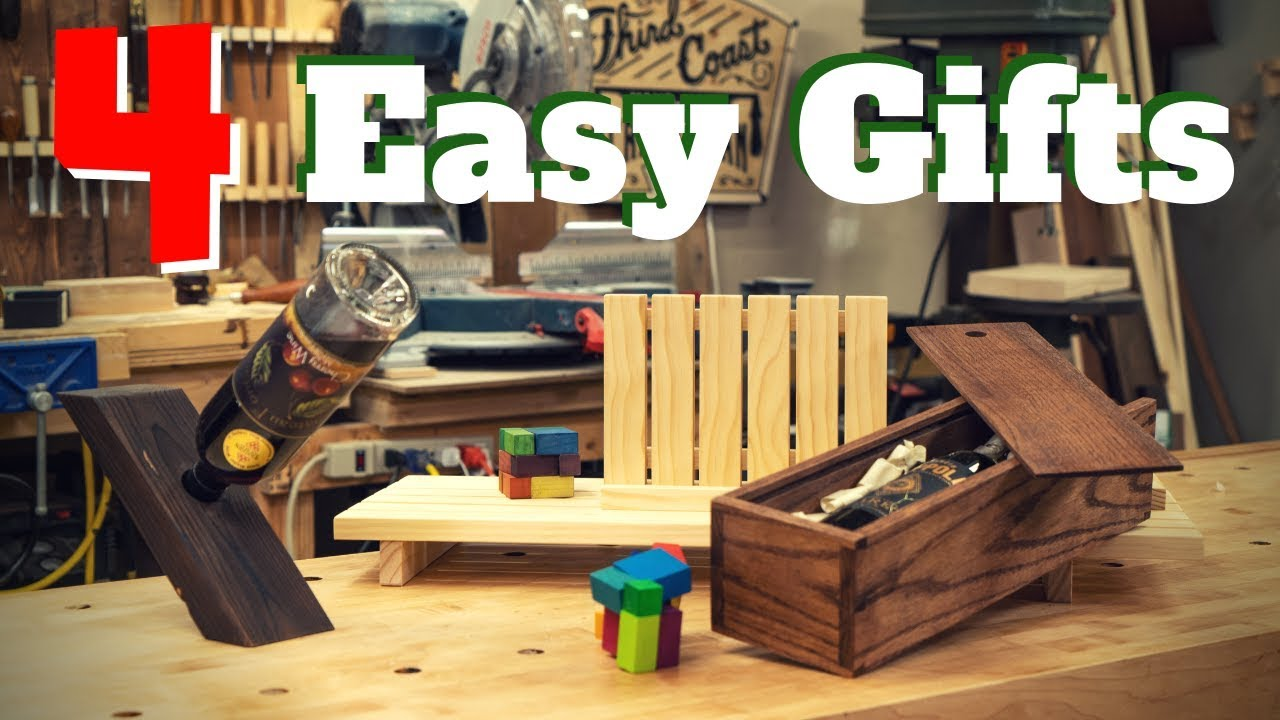 4 Easy Diy Woodworking Gift Projects Youtube