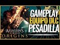 Assassin's Creed Origins | GAMEPLAY DLC Pack PESADILLA | ATUENDO y CABALLO de FUEGO
