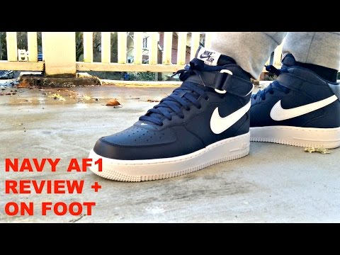 Nike Air Force Mid Navy Review On Feet