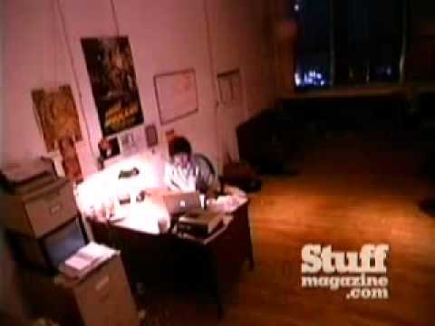 Guy caught on tape jerking off at work