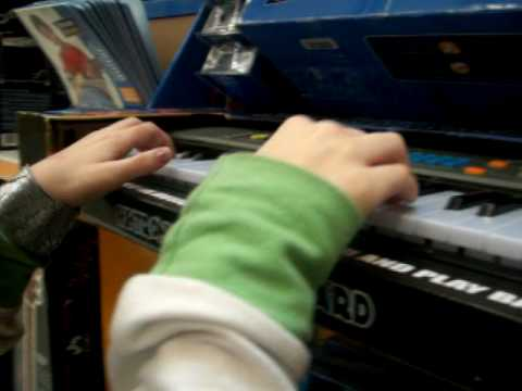 never use the fail children's keyboards at walmart....they make pretty songs sound like death XD