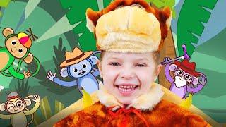 Bebe mono plátano | Canciones de animales l Canciones Infantiles con Nicole