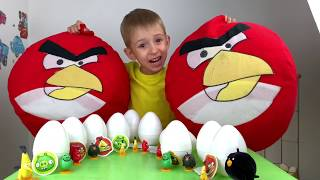 ANGRY BIRDS 2 ЧАКИ И БОМБ против РУСИКА 🤩 10 яиц с СЮРПРИЗАМИ | распаковка| РОМАРИКИ
