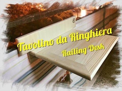 Tavolino Pieghevole Da Ringhiera.Railing Desk Tavolino Da Ringhiera