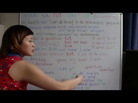 LEARN DUTCH/ NETHERLANDS & INDONESIAN/ BAHASA INDONESIA [IN ENGLISH] #46 FOR BEFORE AFTER UNTIL