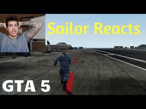 Navy Veteran REACTS to GTA V Aircraft Carrier Mod