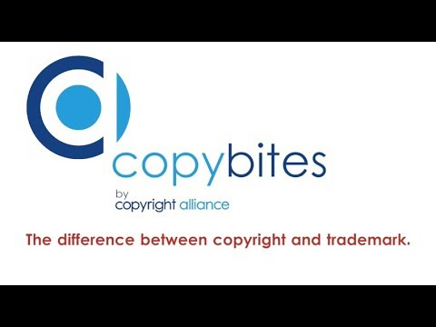 The difference between copyright and trademark