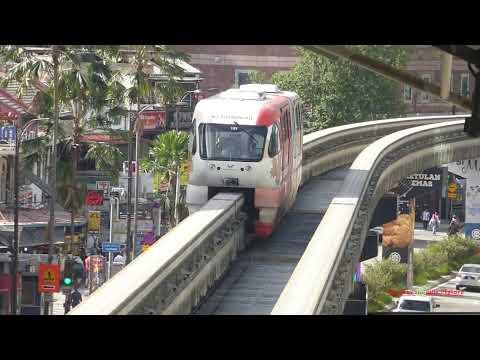 The Monorail System in Kuala Lumpur, Malaysia