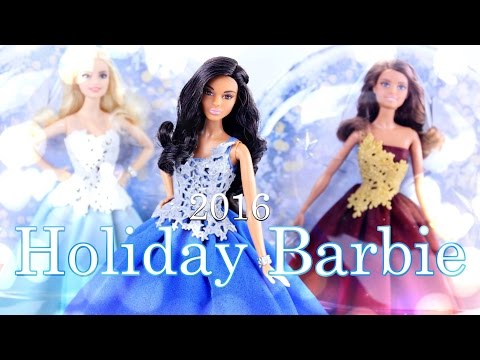Unbox Daily:  2016 Holiday Barbie - Peace, Hope & Love Collection - Doll Review - 4K