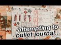 bullet journaling for the first time *gone wrong*