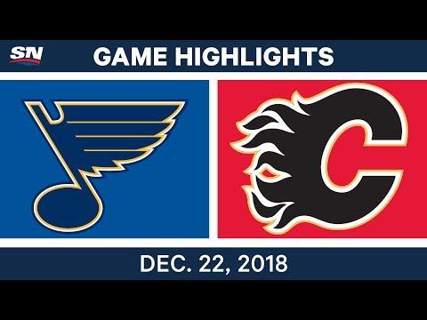 NHL Highlights | Blues vs. Flames - Dec 22, 2018