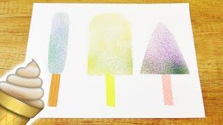 DIY Deko fürs Zimmer SOMMER   Eis am Stiel mit Zauberstiften Pustestifen   Poster selber machen