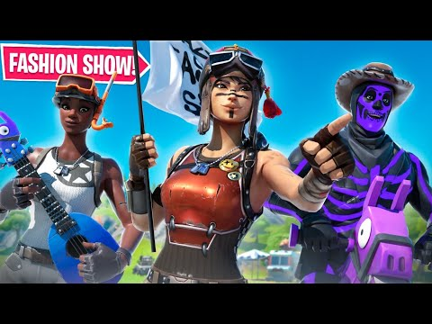 STREAM SNIPING Fashion Show's with a RARE SKIN ARMY...
