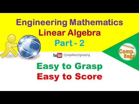 Easy Methods of Engineering Mathematics | Linear Algebra - Matrix operations | Part-2