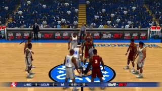 2K Sports College Hoops NCAA 2K7 #23 USC Trojans vs #7 UCLA Bruins Retro Game