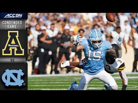 Appalachian State Vs. North Carolina Condensed Game   ACC Football 2019-20