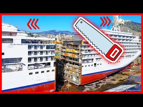 Зачем круизные корабли режут пополам