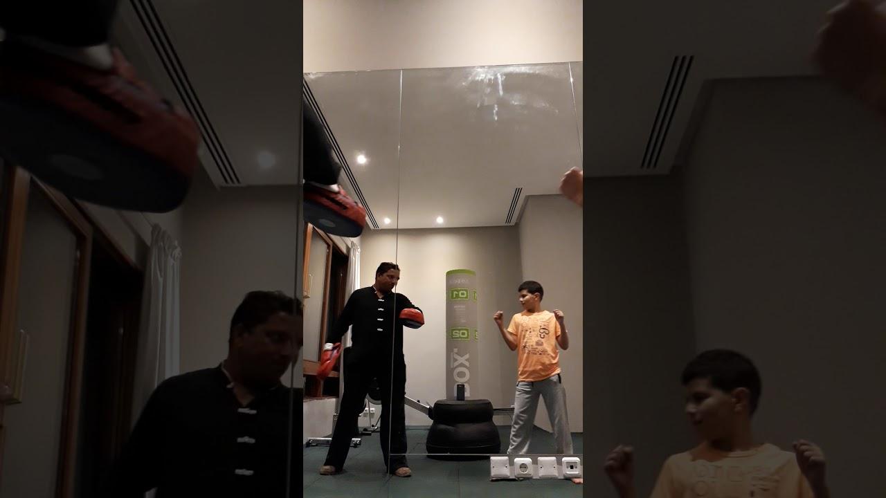 Kungfu jeddah home gym kickboxing hamza youtube