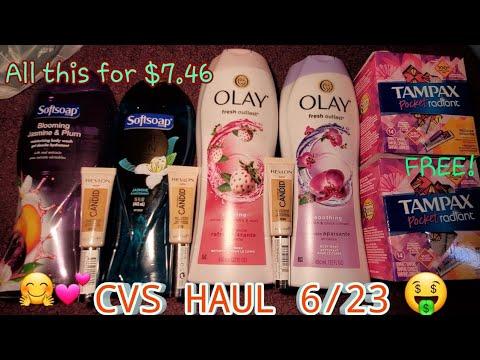 CVS HAUL 6/23| FREE TAMPAX - YouTube