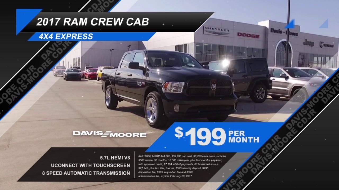 Davis Moore Dodge >> Ram Truck Month At Davis Moore Chrysler Dodge Jeep Ram Youtube