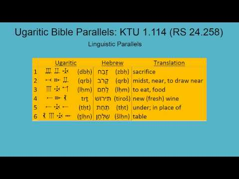 Ugaritic Reading and Bible Parallels #1