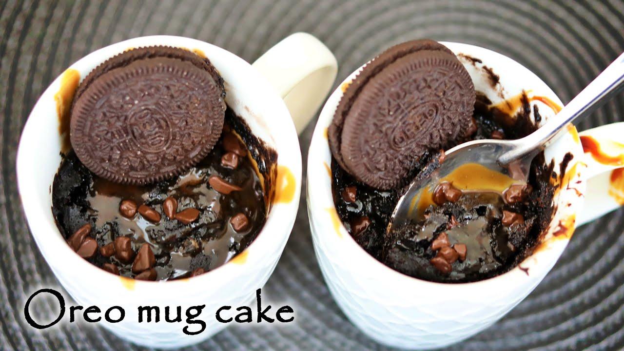 Chocolate Mug Cake Recipe | Oreo Cake in Microwave ...