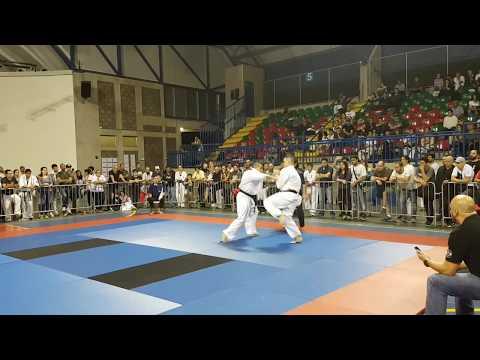 Kyokushin KWF Final -80kg Dinish Everitz (Netherlands) Vs Jonathan Gonzalez (Costa Rica)